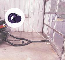 Garage Door Exhaust Ports Crushproof Hose Com
